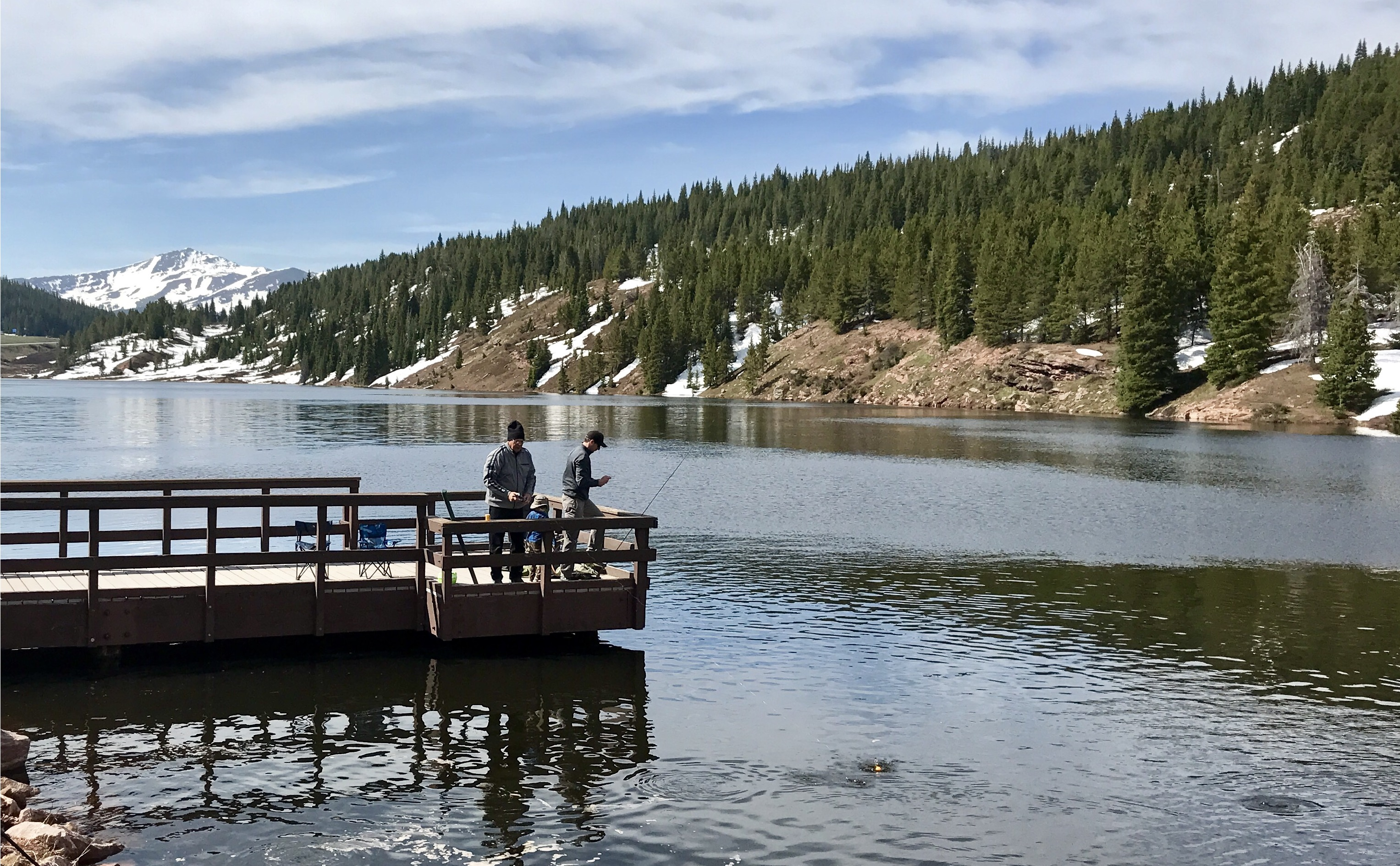 More than 3 000 rainbow trout now in black lakes atop vail for Vail lake fishing