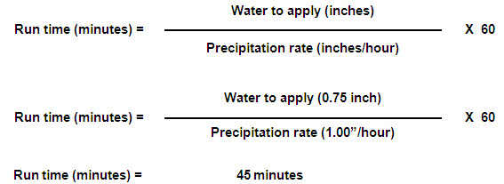 Irrigation Run Time Calculation